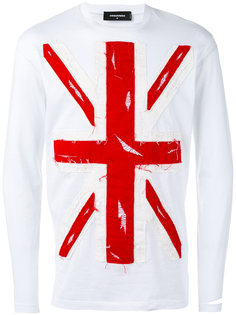 футболка с аппликацией Union Jack Dsquared2