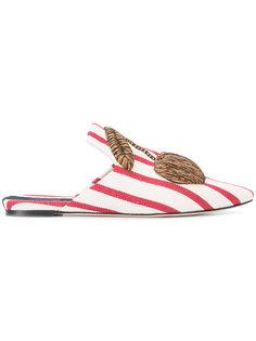 cherry appliqué slippers  Sanayi 313