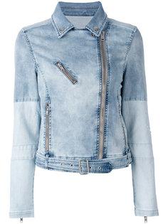 джинсовая байкерская куртка Diesel