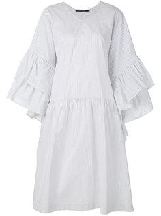 платье в полоску с оборками на рукавах  Sofie Dhoore