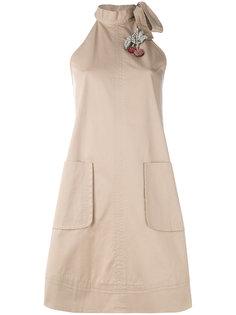 мини-платье с высоким воротником Nº21
