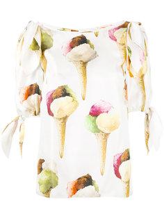 блузка с рисунком в виде мороженого Dolce & Gabbana