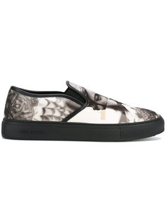 Statue print slip-on sneakers Neil Barrett