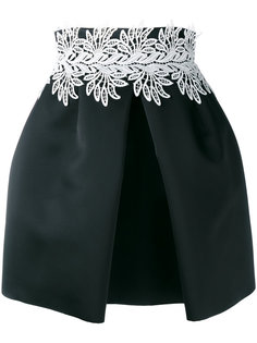 leaf detail front pleat skirt Sara Battaglia