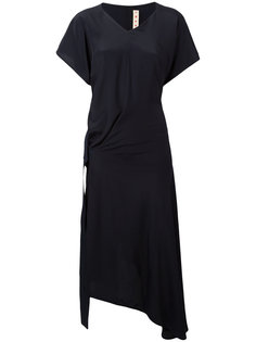 драпированное платье миди Marni