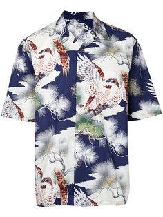 King of the Sky Hawaiian open shirt Gold
