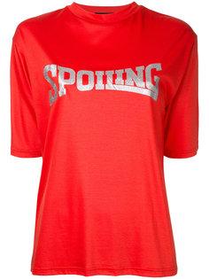 Spoiling glitter print T-shirt G.V.G.V.