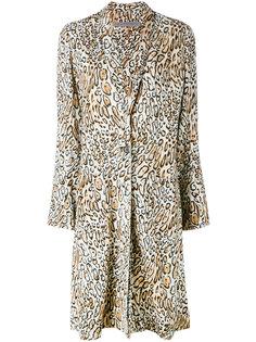 пальто с леопардовым рисунком Raquel Allegra