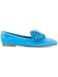 pom pom slippers Aquazzura