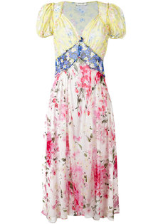 panelled floral print maxi dress Attico