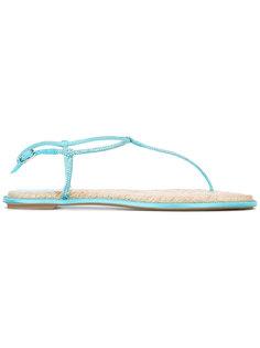 embellished T-bar flat sandals René Caovilla