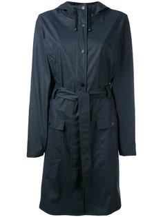 belted raincoat Rains