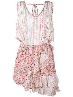 платье с цветочным узором и оборками Nº21