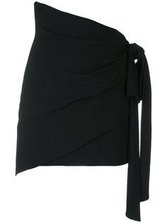 юбка с завязками на талии Saint Laurent