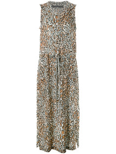 платье с леопардовым рисунком и завязками Raquel Allegra