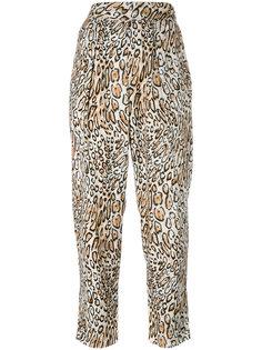 укороченные брюки с леопардовым рисунком Raquel Allegra