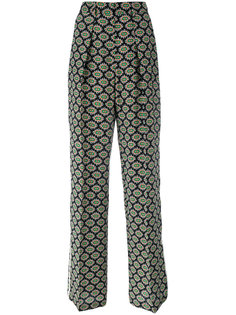 eyes print straight trousers MSGM