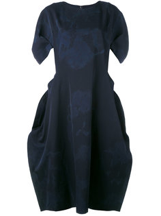 платье с пятнистым рисунком и драпировками Comme Des Garçons