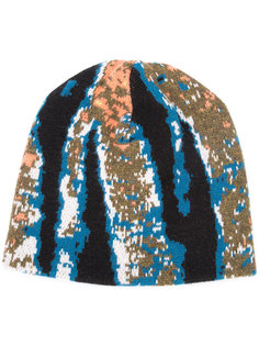 abstract tiger stripe beanie Baja East