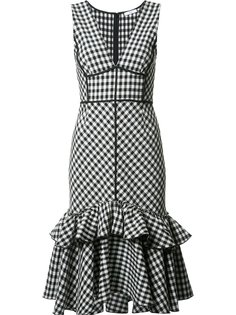 sleeveless gingham dress  Tome
