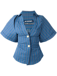 checked button front shirt Jacquemus