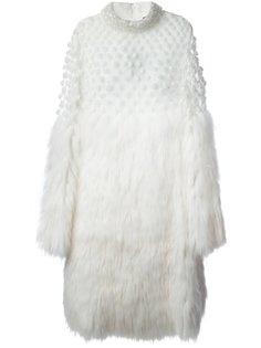 меховое платье с воротником-стойкой Alexander McQueen