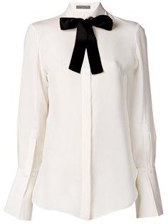 блузка с контрастным бантом Alexander McQueen
