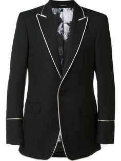 пиджак с контрастной окантовкой Alexander McQueen