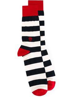 полосатые носки  Alexander McQueen