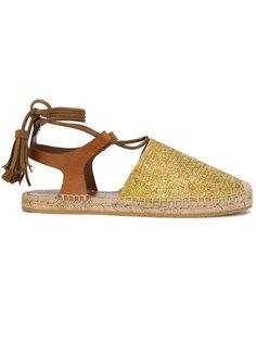 сандалии с плетеной отделкой Etro