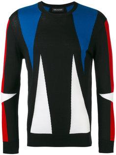 свитер с геометрическим узором Neil Barrett