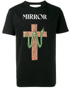 футболка с принтом змеи Off-White