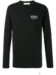 футболка с длинными рукавами и логотипом  Off-White