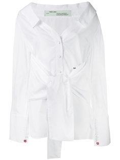 рубашка со спущенными плечами  Off-White