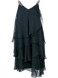 полупрозрачное ярусное платье Brunello Cucinelli