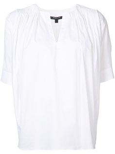 gathered shoulders shift blouse Derek Lam