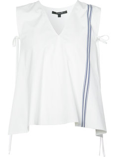 striped detail sleeveless blouse Derek Lam