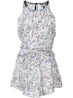 splatter print halterneck blouse Derek Lam