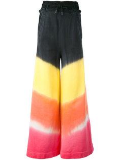 широкие брюки с эффектом тай-дай Off-White