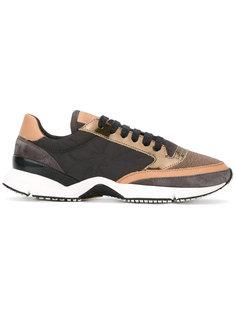 кроссовки со шнуровкой и панельным дизайном Brunello Cucinelli