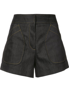 patch pockets denim shorts Derek Lam