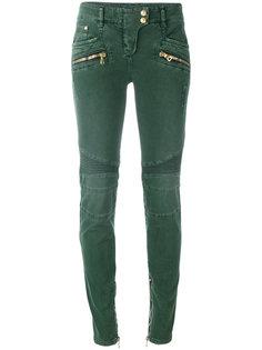 эластичные байкерские джинсы  Balmain