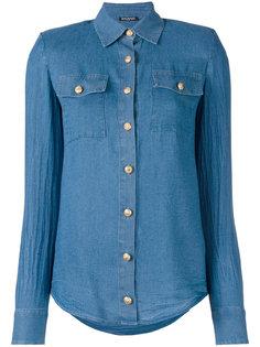 классическая джинсовая рубашка  Balmain