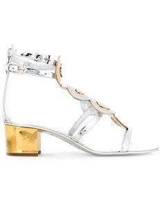 босоножки на контрастном каблуке Giuseppe Zanotti Design