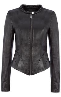 Асимметричная кожаная куртка La Reine Blanche