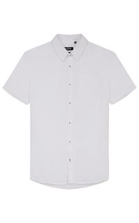 Белая рубашка с коротким рукавом Al Franco