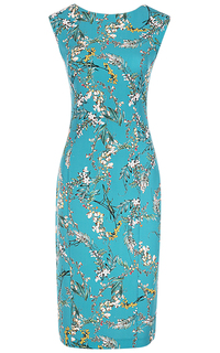 Голубое платье с принтом La Reine Blanche