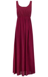 Бордовое платье макси La Reine Blanche