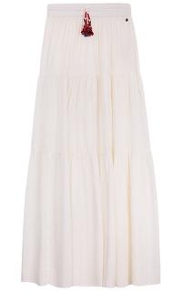 Длинная белая юбка Pepe Jeans London