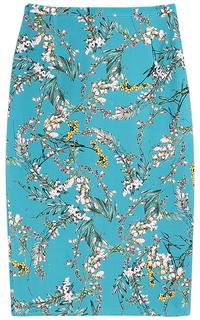Голубая юбка с принтом La Reine Blanche